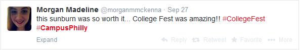 CollegeFest was Amazing Tweets