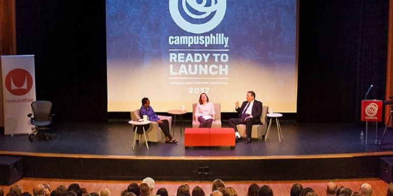 Sponsors on stage of Campus Philly's Ready to Launch event 2017