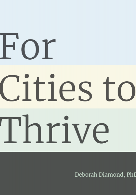 For Cities to Thrive