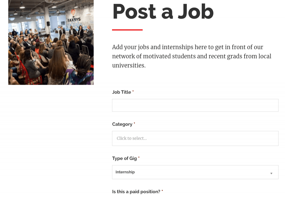 Campus Philly post a job